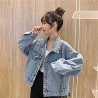 Women's Jackets Women Short Denim Simple Loose Retro Leisure Daily Womens Clothing All-match Chic Females Harajuku Korean Style