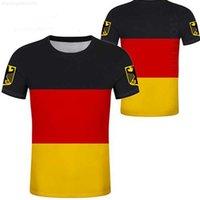 DIY ALMANYA T Gömlek Ücretsiz Özel Ad Numarası Deu Tişört Ulus Bayrak De Ülke Alman Bundesrepublik Koleji Baskı Fotoğraf Pamuk