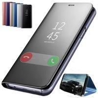 Lüks Akıllı Ayna Flip Case Xiaomi Redmi için 9 S 9 9A 8 PRO 8A 8T K30 10X MI 10 Lite Gençlik Temizle Görünüm Deri Standı Kapak