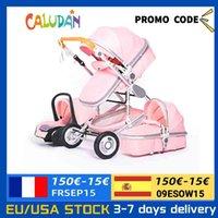 Diseñador Lujo Cochecito de lujo Alto Paisaje Bebé 3 en 1 con asiento de coche Pink Travel Praza Asiento y Rier Jersey