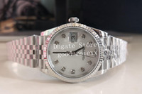 36mm mittelgroße Mutter von Perlenzifferblatt Uhren Männer BP Fabrik automatisch 2813 Uhr BPF Jubiläum Armband Männer 126234 Datum mechanische Armbanduhren