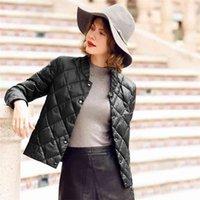 Winter Ultra Light Down Coat White Duck Jacket Short Thin Autumn Slim Female Plus Size Outwear 210909