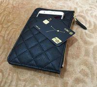 Paris Fashion mobile phone bag Women Multi function zero money bag Designer Leather Credit card bag Luxury gift Wallet Long zip pocket