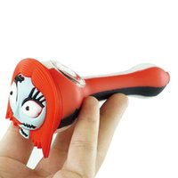4.3'' mini Smoking Pipes Dabber wax burner oil rigs hand pipe Joint Silicone Tube cartoon face