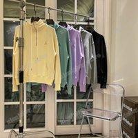 21SS Mens Donne Designer Felpe Felpe con cappuccio Tessitura Ricamo Amore Casual Alta Qualità Moda Uomini selvatici Top beige Viola Verde S-XL