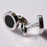 2021 Lüks Kol Düğmeleri Kaliteli Adam Klasik Paslanmaz Çelik Tarzı Takı Gümüş Altın Siyah Gül-Altın Renkler Gömlek Manşet