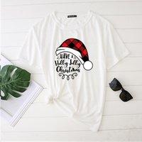 여성용 티셔츠 Seeyoushy 메리 크리스마스 2021 프린트 여성 Tshirts 여성을위한 패션 하라주쿠 탑 여성 숙녀 크루 넥 플러스 사이즈 의류 fem