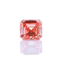 느슨한 3 S 핑크 컬러 Asscher Cut CVD Lab Grown Diamond