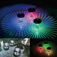 Solar Lamps Floating Light LED Disco Swimming Pool Waterproof Power Multi Color Changing Water Drift Lamp Security Dropship