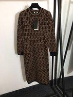 2021 Yeni O Boyun Moda Baskı Milan Pist Elbise Tasarımcısı Elbise Marka Aynı Stil Elbise 0302-29