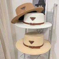 デザイナーキャップバケツ帽子ファッション男性女性フィットトップ帽子高品質ストローサンキャップウールの帽子