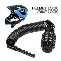 Taşınabilir Anti-Hırsızlık Bisiklet Motosiklet Kask Kilidi Teleskopik Kablo Şifreli Kilit Kask Kilit Kablosu Kask Aksesuarları