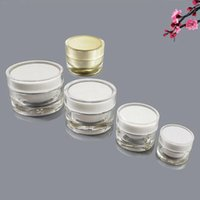 Storage Bottles & Jars Wholesales 5 10 15 20g Acerylic Cream Face Jar Eye Bottle Repair Skin Care Cosmetic Mask Containers Packing
