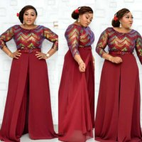 Ethnic Clothing African Women Jumpsuits Beading Flare Sleeve Black Red Green Elegant Islamic Wide Leg Long Rompers