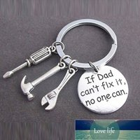 New If Dad Can't Fix It No One Can DIY Tool Wrench Spanner Rule Hammer Model Key Chain Key Ring KeyChain Keyring Gift 373180