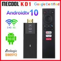 Original Mecool KD1 Smart TV Stick Smart Stick AMLOGIC S905Y2 TV Boîte Android 10 2 Go 16 Go Google Certified 1080p 4K 2.4G5G WIFI BT TV Dongle