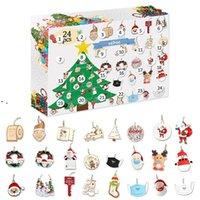 AST AST Advental Calendar 24 шт. Рождественские подвески Councy отсчет календарь DIY новогодняя тема коробка для девочек детские рождественские подарки OWA8608