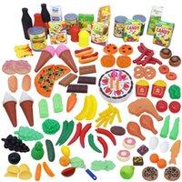 Comida fruta pastel vegetal miniatura fingido juego juego cocina plástico plástico juguete educativo para niños niño niña niños
