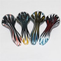Glass Spoon Pipes for smoking hand made colorful tobacco pipe Dry Herb Accessories Oil Burner Bowls