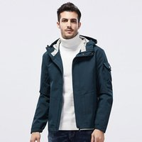 Men's Trench Coats 2021 Style Autumn & Winter Coat Casual Fashion Outdoor Hooded Jacket Plus-sized Menswear Clothes