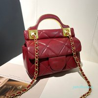 Designer- Women Mini Hanger Bag Flap Top Handle Totes Chain Crossbody Shoulder Vintage Lady Womens Luxury Handbags 12*4*14cm