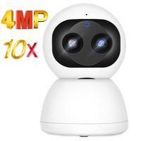 IP Caméra 4MP HD 10x Zoom Home Smart Accueil WiFi Moniteur bébé intérieur AI Détection humaine Couleur Vision Night Vision Vidéo Surveillance 210618