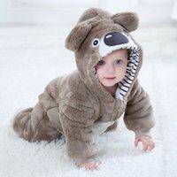 Baby-fille Baby Girl Vêtements Kigurumi Pajamas Animal Dessin animé Combinaison Nouveauté Né Towdler Bébé Romper Fox Cow Panda Hiver 210315