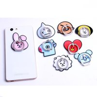 360 Degree Cartoon Dog Rabbit Animal Finger Ring Phone Holder Stand For cellphone accessories Samsung S5 S9 Note 5 Mobile Phones
