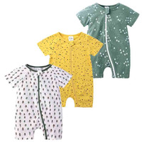 3pcs Baby Rompers 100% Cotton born Girls Clothes Cartoon Infant Body Short Sleeve Clothing Summer Boys Jumpsuit 210729