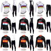 빠른 단계 2021 프로 팀 사이클링 저지 겨울 긴 소매 열 양털 자전거 의류 Maillot Ropa Ciclismo A081