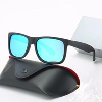 2021 Fashion Polarized Sunglasses Sunglasses Nylon Frame Frame UV400 Lente Caja de cuero Caja de tela Accesorios 7 estilos