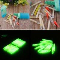 Angelzubehör Großhandel - 15 stücke Mini 4,5x36mm Fisch Leuchtstoff Lightstick Light Night Float Rod Lights Dark Glow Stick Nützlich 1