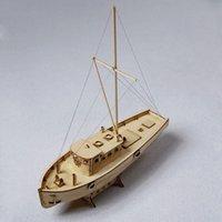 1/30 Escala De Madeira De Madeira Sailing Boat Modelo Kit Crianças DIY Modelo Edifício Navio Navio Sailboat Brinquedos De Mesa Decoração