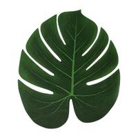 Mats & Pads Artificial Tropical Leaves Hawaiian Luau Party Summer Jungle Theme Decoration Wedding Home Table