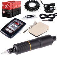 Tattoo Guns Kits Hybrid Rotary Pen Kit For Liner Shader Permanent Make Up Needles Cartridges Power Supply Foot Pedal EM108KITB50
