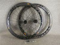 بوب الأسود على الأسود 700C 3K ماتي كوني 50 ملليمتر القرص الكربون الطريق دراجة عجلات الجبهة الخلفي العجلات مع 23 ملليمتر عرض أسود مركز قفل cx3 محاور القرص 11 سرعة