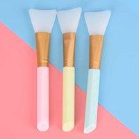 Makeup Pinsel einteilig Gesichtsmaske Rührbürste Weiche Silikonfrauen Haut Gesichtspflege Für Mädchen Kosmetische Werkzeuge 3 Farben