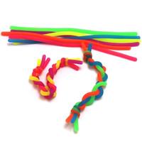Novidade Descompressão Rope Fidget Abreact Cola Flexível Macarrão Cordas 19cm Stretchy String Neon Slings Pulseira Crianças Adult Brinquedos H22202
