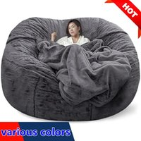 Camp Furniture Giant Beanbag Sofa Cover Big XXL No Stuffed Bean Bag Pouf Ottoman Chair Couch Bed Seat Puff Futon Relax Lounge