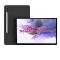 """black matte Skid-proof Soft TPU Transparent Silicone Clear Case Cover for Samsung Galaxy Tab S7 FE 12.4"""" 2021 (SM-T730 T736) cases"""