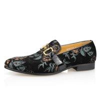 Sapatos de vestido Sapatos Masculinos de Verão, Calçados Casuais, Sintéticos Florais da Moda Para Homens, Sintético, Talhe Um Passo, Válvula Ula Escape NTXW