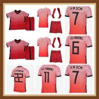 2021 2022 Coréia Crianças Futebol Jerseys Equipe Nacional U J I Kwon C Hwang H M Filho Home Away Men Kids Camisa de Futebol de Manga Curta Manga Uniformes