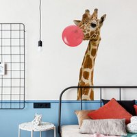 Wall Stickers 2021 Cute Deer And Balloon Self-Adhesive Decorative Cartoon Lovely Animals Adhesive For Kids