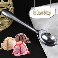 Branco níquel chapeamento liga de zinco sorvete scoops cozinha ferramentas de cozinha durável não-vara melancia baller colher colher antiderrapante dwf7362