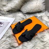 Top Hohe Qualität Leder Hausschuhe Frauen Sommer Mode MÜSSEN HAUS Rutschfeste Verschleißfest Flache Bottom Faule Schuhe Große Größe mit Box
