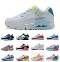 90 Koşu Ayakkabıları Bayan Chaussures ABD Beyaz Yeşil Ultramarin Serin Gri Zarel Olarak Gül 90 S Kadın Eğitmenler Açık Spor Sneakers Boyutu 36-40