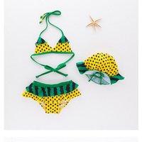 Yeni Bebek Mayo Bebek Kız Çocuk Karikatür Sevimli Bikini Kızlar Bölünmüş İki Adet Mayo Karpuz Mayo Beachwear Çocuklar