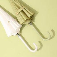 Umbrell Creativeand Simple Prosto Parasol Długi uchwyt Solid Color Japoński Mały Umieszczony parasollastraight