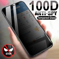 100D Anti Spy Tempered Glass For iPhone 12 mini 11 Pro XS Max X XR Privacy Screen protector iPhone 7 8 6 6S Plus SE 2020 Glass