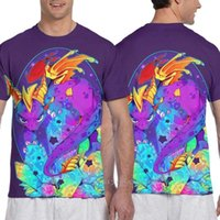 Men's T-Shirts Parent-child Outfit Crystal Spyro Men All Over Print Tshirt Women Fashion T Shirt Girl Boy Tops Tees Short Sleeve T-shirt